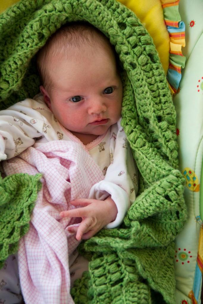 Vivian at 1 week