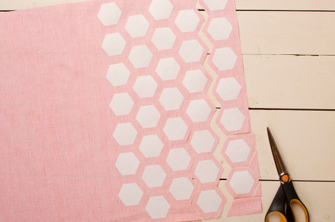 tessellating templates saves a lot of fabric!